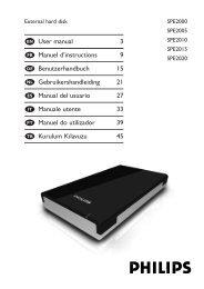 Philips Hard disk esterno - Istruzioni per l'uso - ESP
