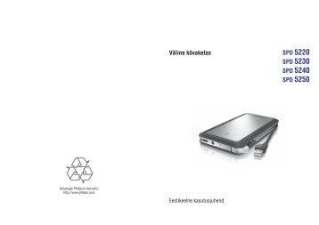 Philips Hard disk esterno - Istruzioni per l'uso - EST
