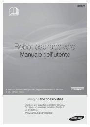 Samsung Aspirapolvere SR8800 ROBOT, Visionary Mapping™, 40 W - User Manual_9.83 MB, pdf, ITALIAN