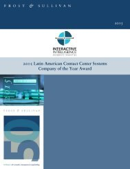 2015 Latin American Contact Center Systems Company of the Year Award