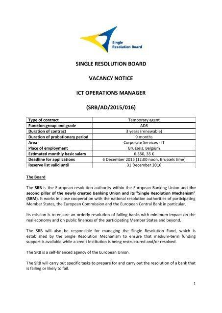 Resolution board belgium single Single Resolution
