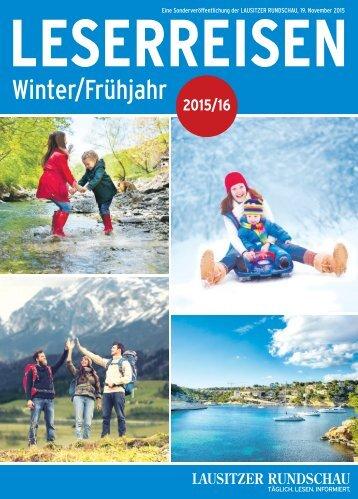 Leserreisen Winter/Frühjahr 2015/2106