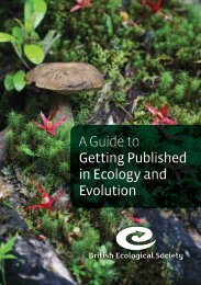 A Guide to Getting Published in Ecology and Evolution
