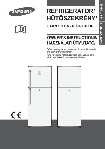 Samsung RT41MBSW - User Manual_65.77 MB, pdf, ENGLISH, CZECH, HUNGARIAN, SLOVAK