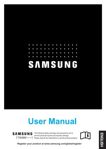 Samsung TS 48 WLUS - User Manual_2.39 MB, pdf, ENGLISH