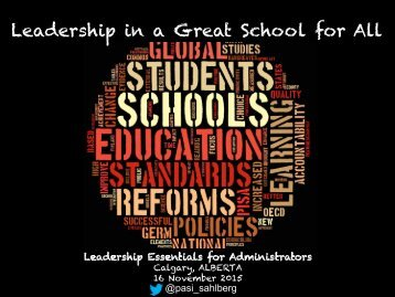 Leadership in a Great School for All