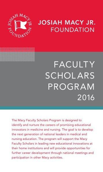 Faculty Scholars Program