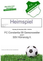 Heimspiel 29-11-2015