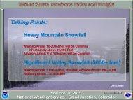 Heavy Mountain Snowfall Significant Valley Snowfall (5000+ feet)