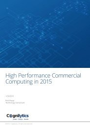 High Performance Commercial Computing in 2015