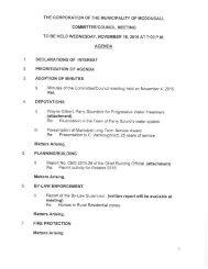 November 18, 2015 Agenda Package