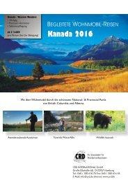 Canada 2016: BEGLEITETE WOHNMOBIL-REISEN