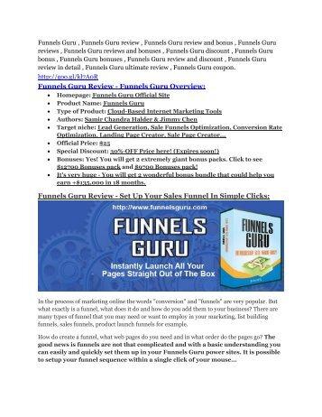 Funnels Guru review-$26,800 bonus & discount