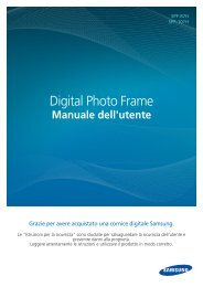 Samsung SPF-87HL - User Manual(Model code type : LP**IPLE*)_10.8 MB, pdf, ITALIAN