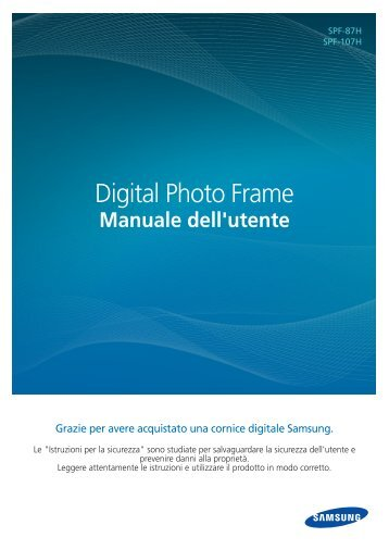 Samsung SPF-87HL - User Manual(Model code type : LP**IPLE*)_10.8 MB, pdf, ITALIAN