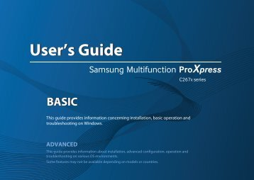 Samsung Multifunzione a colori ProXpress C2670FW (A4) (26 ppm) - User Manual_25.68 MB, pdf, ENGLISH