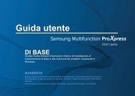 Samsung Multifunzione a colori ProXpress C2670FW (A4) (26 ppm) - User Manual_22.94 MB, pdf, ITALIAN