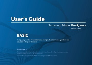Samsung Stampante Laser b/n ProXpress SL-M4530ND (45 ppm) - User Manual_40.01 MB, pdf, ENGLISH