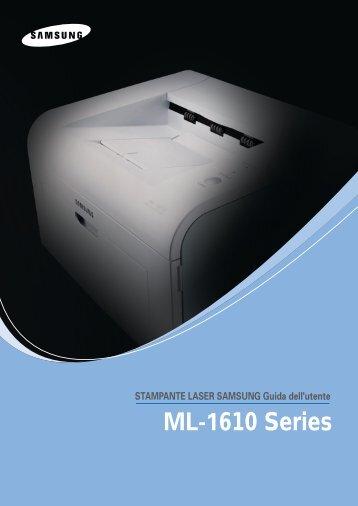 Samsung ML-1610 - User Manual_6.41 MB, pdf, ITALIAN