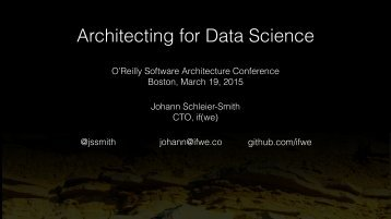 Architecting for Data Science