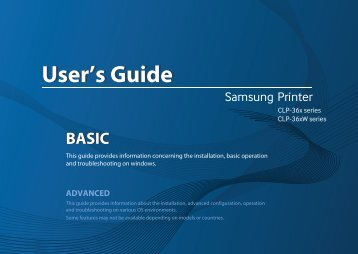 Samsung Stampante Laser a colori CLP-365 (18 / 4 ppm) - User Manual_35.48 MB, pdf, ENGLISH