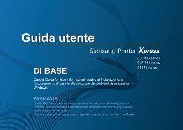 Samsung Stampante Laser a colori Xpress C1810W (18 / 18 ppm) - User Manual_45.49 MB, pdf, ITALIAN