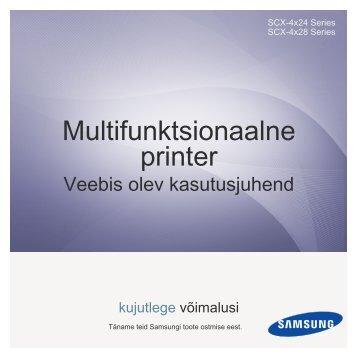 Samsung SCX-4828FN - User Manual_7.99 MB, pdf, ESTONIAN, MULTI LANGUAGE