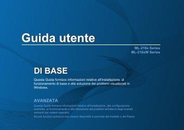 Samsung ML-2160 - User Manual_7.89 MB, pdf, ITALIAN