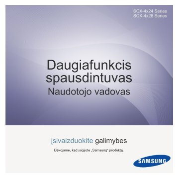 Samsung SCX-4824FN - User Manual_8.64 MB, pdf, LITHUANIAN, MULTI LANGUAGE