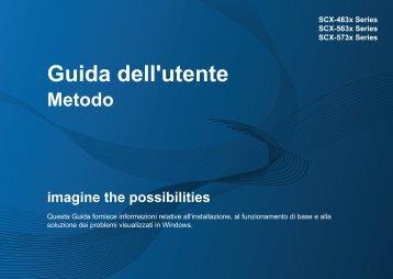 Samsung SCX-5637FR - User Manual_47.12 MB, pdf, ITALIAN