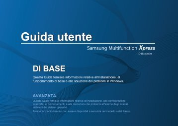 Samsung Multifunzione a colori Xpress C460FW (A4) (18/4 ppm) - User Manual_42.56 MB, pdf, ITALIAN