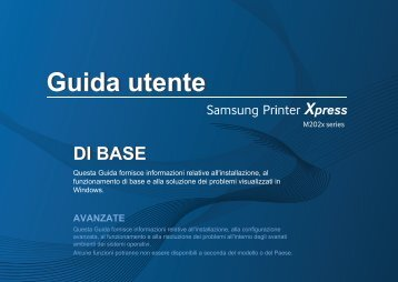 Samsung Stampante Laser b/n Xpress M2022W (20 ppm) - User Manual_20.96 MB, pdf, ITALIAN