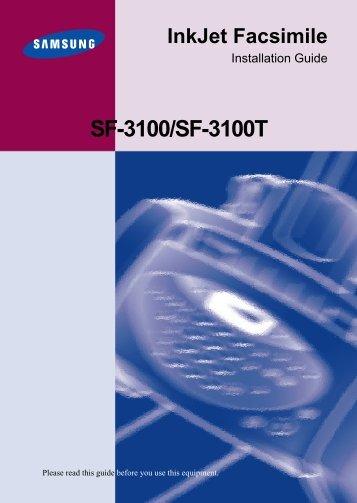 Samsung SF-3100TI - User Manual_2.65 MB, pdf, ENGLISH