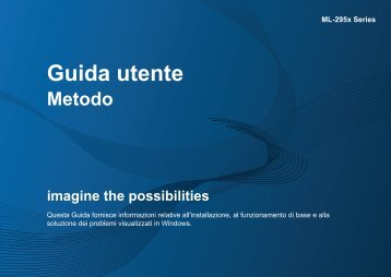 Samsung ML-2950ND - User Manual_28.74 MB, pdf, ITALIAN