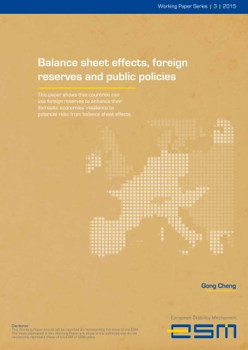 Balance sheet effects foreign reserves and public policies