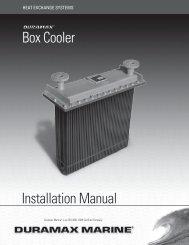 Box Cooler Installation Manual - Duramax Marine