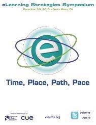 eLearning Strategies Symposium 2015 Program