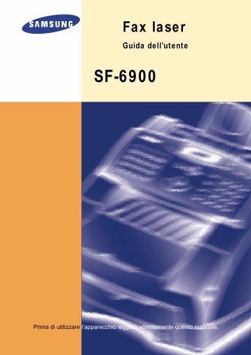 Samsung SF-6900 - User Manual_2.12 MB, pdf, ITALIAN
