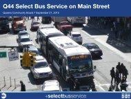 Q44 Select Bus Service on Main Street