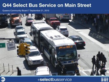 Q44 Select Bus Service on Main Street