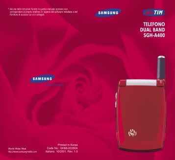 Samsung SGH-A400 - User Manual_0.91 MB, pdf, ITALIAN