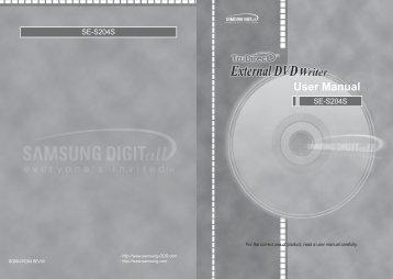 Samsung SE-S204S - User Manual_4.33 MB, pdf, ENGLISH