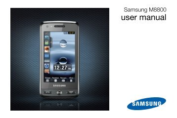 Samsung Samsung INNOV8 Touch - User Manual_4.31 MB, pdf, ENGLISH(Europe)