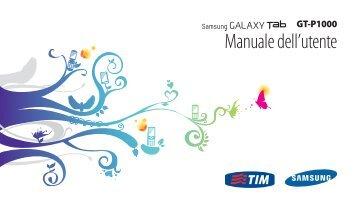 Samsung GT-P1000/M16 - User Manual(Gingerbread)_3.43 MB, pdf, ITALIAN(TIM)