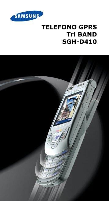 Samsung SGH-D410 - User Manual_2.07 MB, pdf, ITALIAN