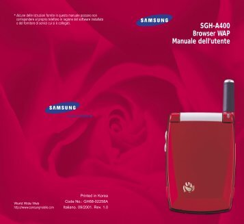 Samsung SGH-A400RA - WAP Guide_0.15 MB, pdf, ITALIAN