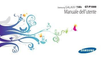 Samsung GT-P1000/DM16 - User Manual(Gingerbread)_2.8 MB, pdf, ITALIAN