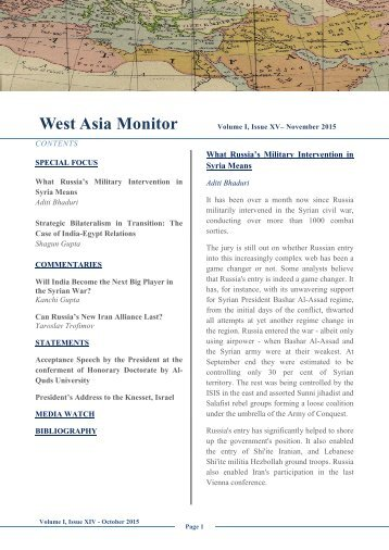 West Asia Monitor