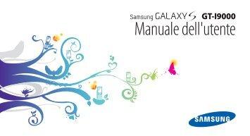Samsung Galaxy S - User Manual(GINGERBREAD Ver.)_2.04 MB, pdf, ITALIAN