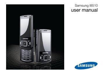 Samsung GT-I8510/16 - User Manual_1.55 MB, pdf, ENGLISH(Europe)